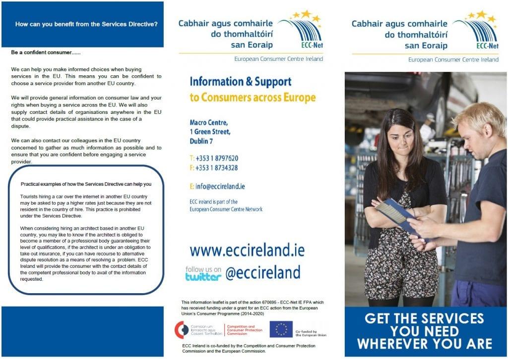 Services directive leaflet