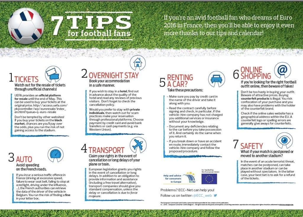 ECC-Net 7 tips for Euro 2016 fans