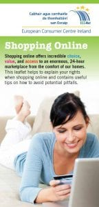 ECC Ireland leaflet tips for shopping online leaflets