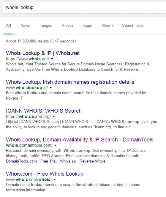 whois lookup domain shopping online