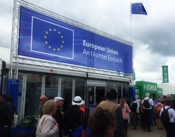 EU stand National Ploughing Championships