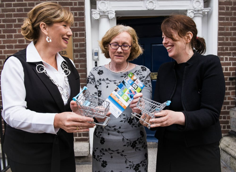 Pictured [L-R] at the launch of the new 10 Tips for Selling Online guide are Mary Rose Burke, CEO of Dublin Chamber of Commerce, Isolde Goggin, Chair, Competition and Consumer Protection Commission (CCPC), and Ann Neville, director of ECC Ireland. Photo by Kevin McFeely.