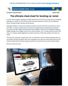booking car rental